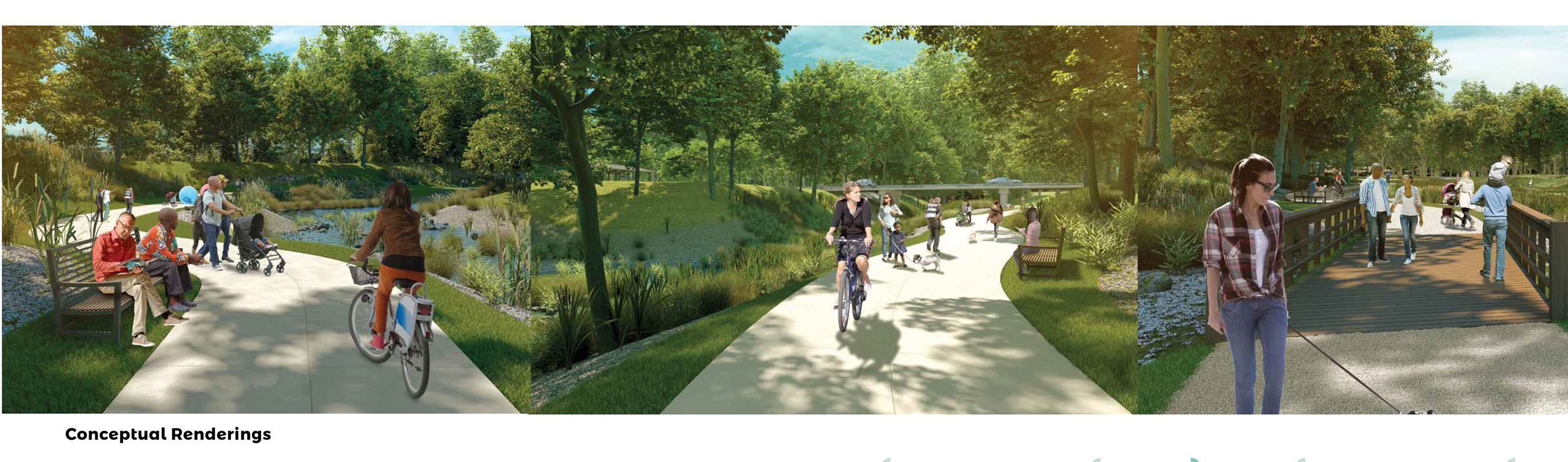 Brentwood Bound Greenway Ground Level Renderings