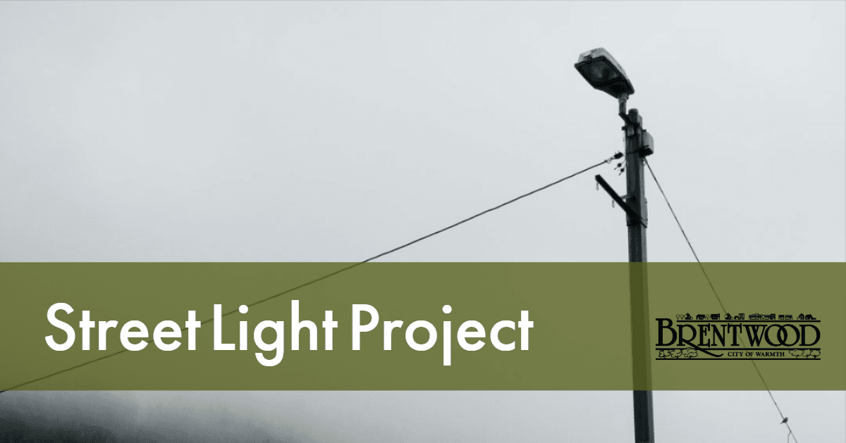Street Light Project Update