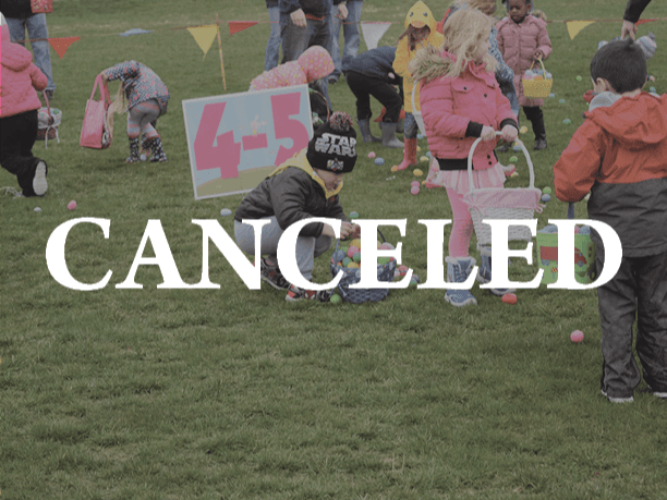Website Egg Hunt Canceled