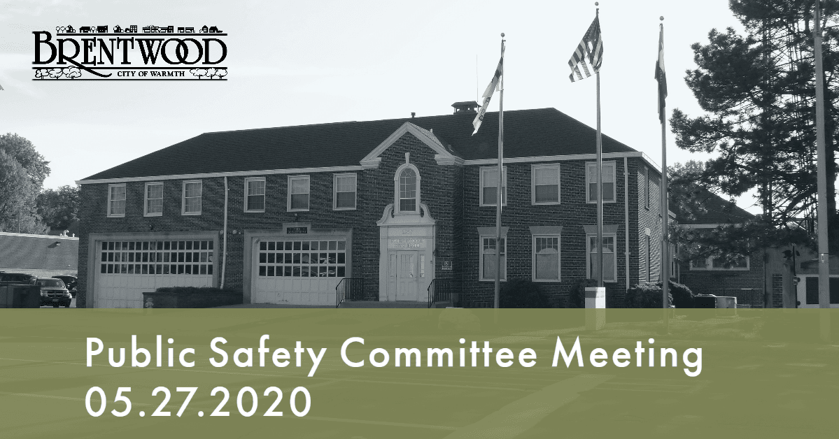 Public Safety Meeting 5.27.2020