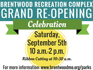 Recreation Complex Grand Re-Opening Sept 5th.