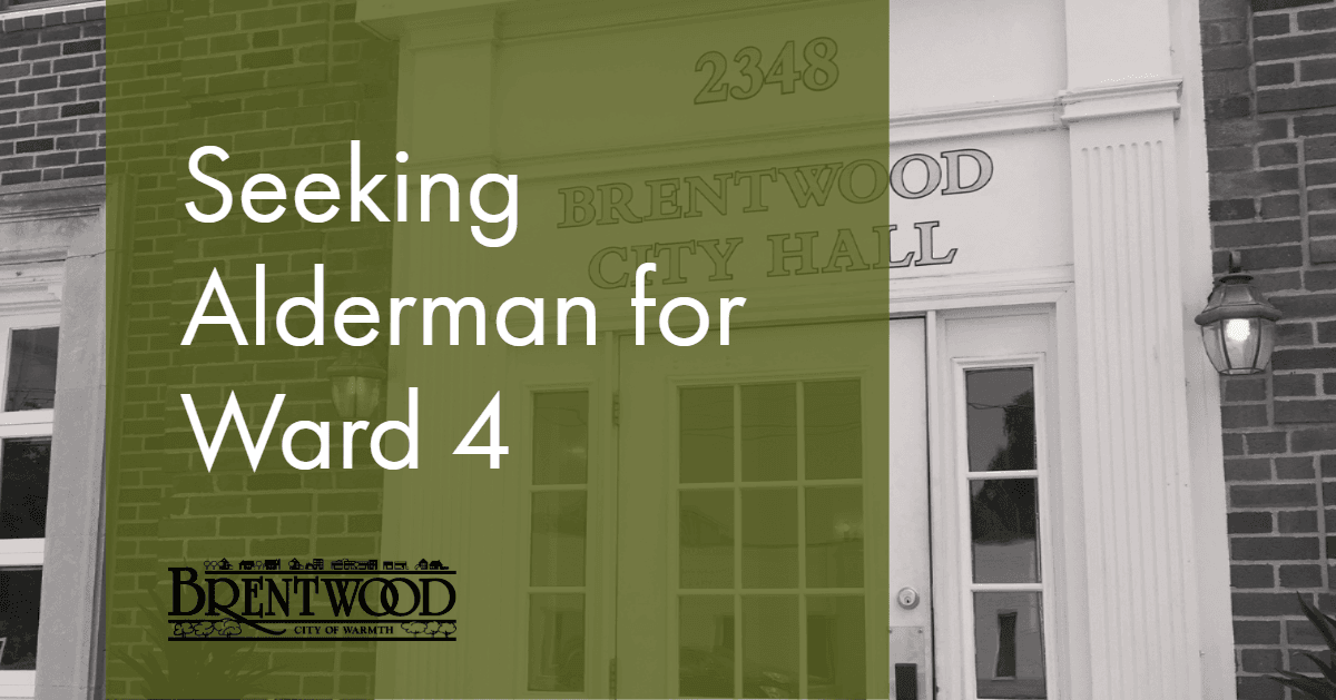 Ward 4 Alderman Vacancy
